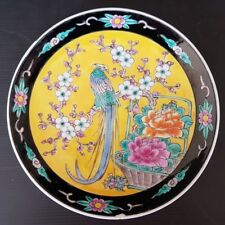"Japonais 9/""D Porcelain Uchi-tokusa bleu lignes Serving Dish plaque MADE IN JAPAN"