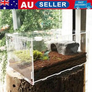 Reptile Enclosure Heat Cage Turtle Crab Tank Lizard Frog Snake Enclosure Acrylic