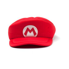 NINTENDO Super Mario Bros. Kids Mario Logo Curved Hat, Red (HAY100506NTN)