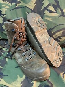 GENUINE BRITISH MILITARY BROWN HIGH LIABILITY DESERT HAIX BOOTS! Size 10M