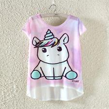 Fashion Women's Summer Unicorn Short Sleeve Casual Shirt Tops Blouse T-Shirt Tee