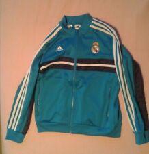Adidas Real Madrid Hymne Track Oberteil Jacke Blau Orange