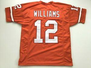 UNSIGNED CUSTOM Sewn Stitched Doug Williams Orange Jersey - M, L, XL, 2XL