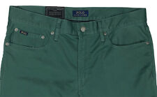 Men's POLO RALPH LAUREN Green Jean-Style Pants Tag = 34x30 NWT Prospect Straight