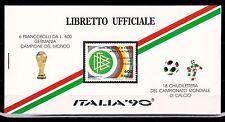 ITALIA ITALY 1990 LIBRETTO UFFICIALE COPPA DEL MONDO DI CALCIO ITALIA 90.