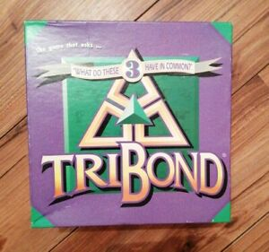 VINTAGE TRIBOND BOARD GAME 1992 BIG FUN COMPLETE LOVELY CONDITION COMMON THEMES