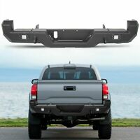 Pro Series Rear Bumper w/ Lights For 2016-2021 Toyota Tacoma 2017 2018 2019 2020