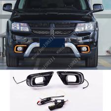 LED Daytime Running Light Front Fog Light 2 Color For Dodge Journey 2011-2019