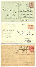 NEDERLAND  S.M.N.1921/23  3 x AK =S.S. PRINCES JULIANA= POSTAGENT ST.  F/VF