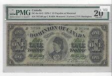 *1878 C*Dom of Canada DC-8e-iii-O, $1 Har , SN# 707168 : PMG VF-20