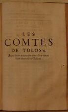 CATEL. HISTOIRE DES COMTES DE TOLOSE. 1623. TOULOUSE.