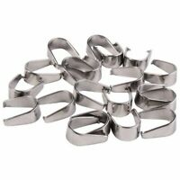 Wholesale Silver Tone Stainless Steel Pinch Clips Bail Connectors Findings