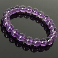 Handmade Men's Women Amethyst Bracelet 8mm Healing Gemstone DIY-KAREN 981