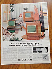 1956 RCA Victor TV Television Ad Compton 21 Glenwood Deluxe & Winthrop 24