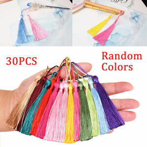 30PCS/Set Silky Tassels Crafts for Souvenir Bookmarks Jewelry Making Accessories