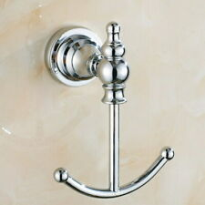 Polished Chrome Bathroom Robe Hook Coat Clothes Holder Hanger Robe Hook