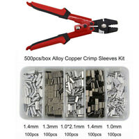 Wire Rope Swager Crimpers High Carbon Steel Fishing Plier with Crimp Sleeves Kit