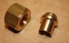 """Qty 2 x Solder Olive/Nipple and Gland Nut for Copper Pipe 3/8""""BSP x 3/8"""" Tube"""