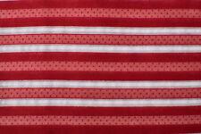 Rojo y Blanco Algodón Rayas Batista 91.4cm Ancho Se Vende por Yardas - FA02