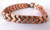 "ARTHRITIS 8.5"" COPPER MAGNETIC BRACELET HEART DESIGN  MAGNET EVERY LINK MBC136"