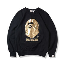 8d361d1d250c Bape A Bathing Ape Hoodie Sweatshirt Monkey Head Pullover Men Black Long  Sleeve