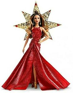 Barbie Holiday Teresa Doll 2017 Brunette With Red Dress New in OPEN BOX