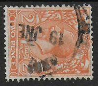 SG421b.  2d.Orange WMK.SIDEWAYS. Good/Fine Used. Full Perfs. Cat.£100. Ref.1198