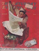 Saturday Evening Post April 11 1943 Norman Rockwell Full Mag  102518DBPost