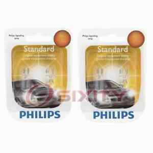 2 pc Philips Map Light Bulbs for Smart EQ fortwo Fortwo 2016-2019 Electrical wg