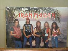 Vintage Iron Maiden 1984 poster heavy metal rock band music artist 3647