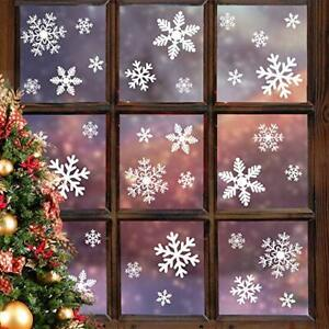 LUDILO 135Pcs Christmas Window Clings Snowflakes Window Decals Static  (5-Sheet)