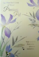 856 Single Pet Sympathy Card - On The sad loss of your Pet (Size G)