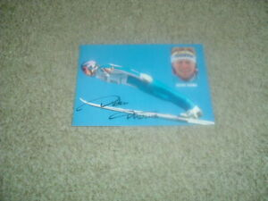 DIETER THOMA - SKI JUMPER - OLYMPIC GOLD 1994 - SIGNED 6 X 4 PHOTO CARD
