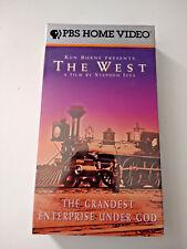 """Ken Burns Presents """"The West"""" The Grandest Enterprise Under God VHS New/Sealed"""
