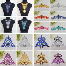 1pc Sequin Motif Applique Dance Wedding Bridal Dress Embroidery Sewing Iron DIY