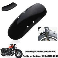 Motorcycle Black Front Short Fender For Harley Sportster XL1200 XL48 2010-Later