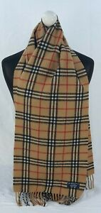BURBERRY SCARF 100% LAMBSWOOL FOR MEN AND WOMEN MADE IN ENGLAND BEIGE TH
