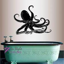Vinyl Decal Octopus Sprut Sea Ocean Bathroom Bedroom Wall Sticker Decor 107