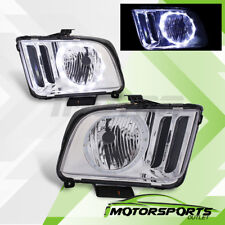 [LED Halo] 2005 2006 2007 2008 2009 Ford Mustang Chrome Factory Style Headlights