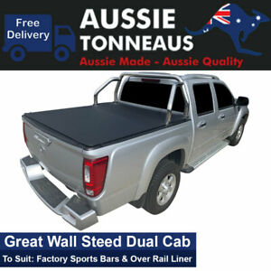 Clip On Tonneau Cover for Great Wall Steed Dual Cab Ute (2016 to Current)