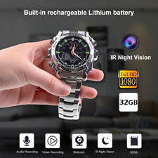 Spy Wrist DV Watch 32GB Video IR Night Vision 1080P Hidden Camera Stainless Band