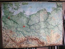 Schulwandkarte Wandkarte Karte Nordost Deutschland Schlesien Preussen 209x153