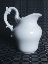 """Light Creme"" Limoges Cream Pitcher  French White Porcelain Blank Blanc de Chine"