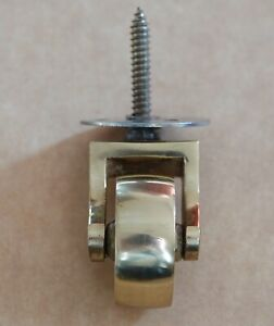 BRASS CASTORS SCREW FITTING 36mm