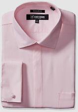 $115 Stacy Adams 18 36/37 Men's Regular-Fit Pink French-Cuff Button Dress Shirt