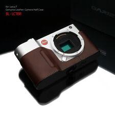 GARIZ BL-LCTBR Black Label Leather Half Case for Leica T Brown