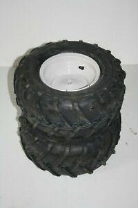 2 Kompletträder mit 18x8.00-8 AS Reifen (Ø 43cm) auf Felgen für MTD Rasentraktor