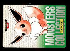 POKEMON BANDAI 1996 GREEN MONSTERS COLLECTION N°  133 EEVEE EVOLI