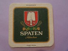 Beer Coaster <> SPATEN Brauerei ~^~ Munchen, GERMANY ** Add'l Coasters $0.25 S&H