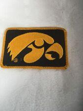 Iowa Hawkeyes hawk patch gold University black Qty 1